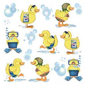 ufengke Stickers Muraux Canards Jaunes Autocollants Mural Bébé Salle de Bain pour Chambre Enfant Décoration Murale de la marque ufengke home image 0 produit