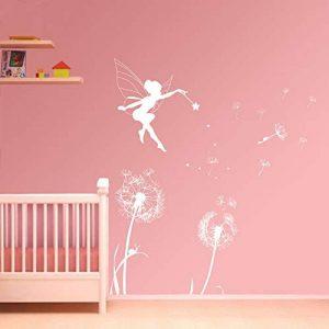 ufengke Stickers Muraux Pissenlit Fée Autocollants Mural pour Chambre Enfant Fille Décoration Murale de la marque ufengke home image 0 produit