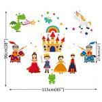 ufengke Stickers Muraux Prince et Princesse Autocollant Mural Château Chevaliers pour Chambre Enfants Fille Décoration Murale de la marque ufengke home image 4 produit