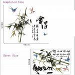 ufengke® Style Chinois Calligraphie et Peinture Oiseaux Bambous Stickers Muraux,Salon Salle de Séjour Chambre à Coucher Décalcomanies Murales Autocollants Amovibles de la marque ufengke-décor image 3 produit