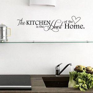 """ufengke® """"The Kitchen Is The Heart Of Home"""" Citations et Dictons Stickers Muraux, Cuisine Salle À Manger Autocollants Amovibles de la marque ufengke-décor image 0 produit"""
