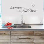 """ufengke® """"The Kitchen Is The Heart Of Home"""" Citations et Dictons Stickers Muraux, Cuisine Salle À Manger Autocollants Amovibles de la marque ufengke-décor image 1 produit"""