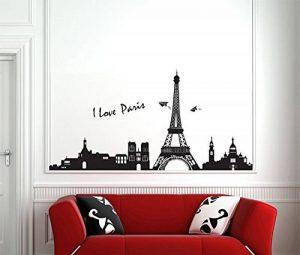 ufengke® Tour Eiffel Célèbre de la Série de Paysage Urbain à Paris Stickers Muraux, Salle de Séjour Chambre à Coucher Autocollants Amovibles de la marque ufengke-décor image 0 produit