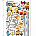 ufengke Voiture de Bande Dessinée Avion Montgolfière Stickers Muraux, La Chambre des Enfants Pépinière Autocollants Amovibles de la marque ufengke-décor image 3 produit