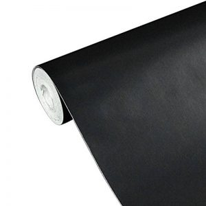 UNIQUEBELLA Papier Peint Auto-Adhésif 45cmx10M Noir Stickers Autocollant Muraux Décoration pour Chambre Salon Meuble de la marque UNIQUEBELLA image 0 produit