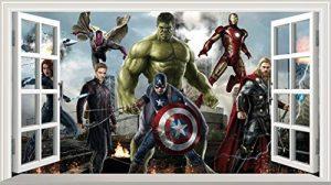 V301 Marvel Avengers Sticker mural autocollant en 3D Poster Art mural Dimensions 1000mm x 600mm de la marque Chicbanners image 0 produit