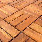 Vanage - Caillebotis en bois - Lot de 27 - Emboîtables et ultra simples à installer – Parfait pour terrasses et balcon – En bois d'acacia de la marque Vanage image 2 produit