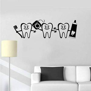 Vente chaude Soins Dentaires Murale Sticker Mural Vinyle Dentiste Signe Accueil Salle De Bains Décor Papier Peint Autocollant Moderne Art Décoratif Affiche 42 * 141 cm de la marque wsxwga image 0 produit