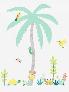 VERTBAUDET Sticker géant Enfant île Palmier Multicolore TU de la marque Vertbaudet image 0 produit