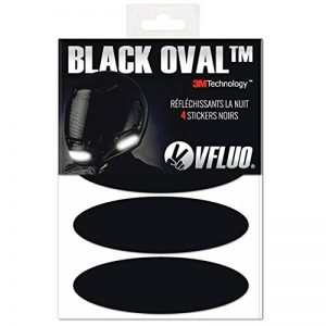 VFLUO Black Oval™, Kit 4 Stickers rétro réfléchissants pour Casque Moto, 3M Technology™, Noir de la marque VFLUO image 0 produit
