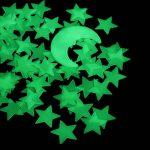 VORCOOL 101pcs Lune Etoile Fluorescente Stickers Muraux Plafond Lumineux Bleu Clair de la marque VORCOOL image 1 produit