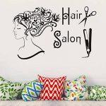 VORCOOL Art Sticker Mural Salon de Coiffure Amovible Vinyle DIY pour Magasin Décor Stickers Muraux Barber Shop de la marque VORCOOL image 2 produit