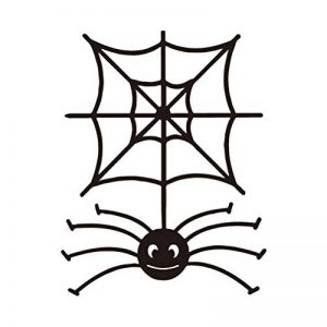 VORCOOL Décorations murales Sticker Cartoon Spooky Spider Web Sticker Halloween Sticker Mural Fenêtre Noir Accessoires en Vinyle de la marque VORCOOL image 0 produit
