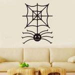 VORCOOL Décorations murales Sticker Cartoon Spooky Spider Web Sticker Halloween Sticker Mural Fenêtre Noir Accessoires en Vinyle de la marque VORCOOL image 2 produit