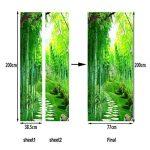 Vosarea 3D Papier Peint Porte Autocollant Murales Adhésif Amovible Bambou Sentier Art de Porte Décoration Maison de la marque Vosarea image 2 produit