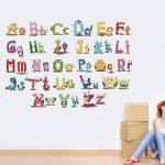 Vosarea Amovible Cartoon Alphabet Lettres Stickers Muraux Autocollants Stickers Muraux pour Maternelle Nursery Enfants Chambre Décor de la marque Vosarea image 1 produit
