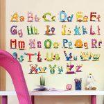 Vosarea Amovible Cartoon Alphabet Lettres Stickers Muraux Autocollants Stickers Muraux pour Maternelle Nursery Enfants Chambre Décor de la marque Vosarea image 3 produit