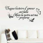 Vosarea Français Stickers Muraux Amovibles Stickers Mural Citations Prononcés Mots Art Décor de la marque Vosarea image 1 produit