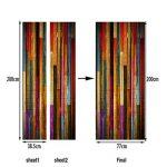 Vosarea Papier Peint Porte 3D Sticker Porte Trompe l'oeil Adhésif Mural Poster de Porte Autocollant Amovible Déco Porte en Bois Vintage de la marque Vosarea image 3 produit