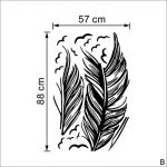 Vovotrade New Feather Chambre Autocollant Mural Oiseaux Accueil Decal Mural Art Decor Noir de la marque Vovotrade® image 3 produit
