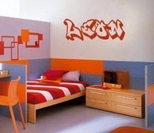 Wall Art Desire Sticker mural coloré en vinyle avec prénom graffiti pour chambre à coucher de la marque WALL-ART-DESIRE image 0 produit