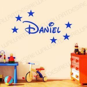 Wall Art Desire Sticker mural en vinyle à personnaliser pour chambre d'enfant Étoiles et prénom style Disney de la marque WALL-ART-DESIRE image 0 produit