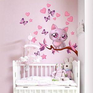 wall art R00076 Kitty Love Sticker Mural pour Enfant, Multicolore, 30x100x0,1cm de la marque wall-art image 0 produit