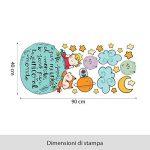 wall art r00370Sticker Mural pour Enfant Petit Prince et Le Renard sur la planète–Mesures 90x 40cm–Décoration Murale, Stickers pour Mur, Papier Peint de la marque wall-art image 1 produit