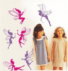 Wall Stickers Warehouse - Autocollant Mural 6 Fées Repositionnable Chambre Fille de la marque DecoBay image 0 produit