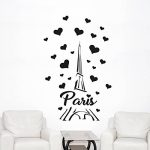 Wall4Stickers Sticker mural en vinyle Paris - Tour Eiffel de la marque Wall4stickers image 1 produit