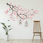 Wallflexi Stickers muraux Branche Fleurs de Cerisier Art Mural muraux Amovible Autocollant Stickers pour Office Home Décoration, Multicolore de la marque Wallflexi image 1 produit