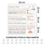 Wallflexi Stickers muraux Cristaux Swarovski et règles de la Maison Floral Français Stickers muraux Décoration Salon Chambre d'enfant Restaurant Cafe Bureau Décor de la marque Wallflexi image 4 produit
