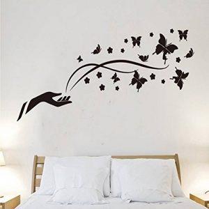 Wallpark Abstrait Simple Noir Papillon Fleur Amovible Stickers Muraux Autocollants, Salon Chambre Maison DIY Décoratif Adhésif Stickers Mural de la marque Wallpark image 0 produit