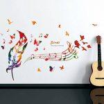 Wallpark Artistique Coloré Plumes The Song of The Birds Notes de Musique Amovible Stickers Muraux Autocollants, Salon Chambre Maison DIY Décoratif Adhésif Stickers Mural de la marque Wallpark image 3 produit