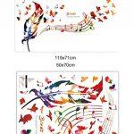 Wallpark Artistique Coloré Plumes The Song of The Birds Notes de Musique Amovible Stickers Muraux Autocollants, Salon Chambre Maison DIY Décoratif Adhésif Stickers Mural de la marque Wallpark image 4 produit