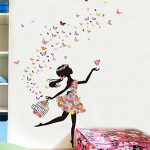 Wallpark Romantique Dansant Fille Fleur Fée Papillon Amovible Stickers Muraux Autocollants, Enfants Bébé Chambre Pépinière DIY Décoratif Adhésif Stickers Mural de la marque Wallpark image 2 produit