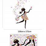 Wallpark Romantique Dansant Fille Fleur Fée Papillon Amovible Stickers Muraux Autocollants, Enfants Bébé Chambre Pépinière DIY Décoratif Adhésif Stickers Mural de la marque Wallpark image 4 produit