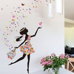 Wallpark Romantique Dansant Fille Fleur Fée Papillon Amovible Stickers Muraux Autocollants, Enfants Bébé Chambre Pépinière DIY Décoratif Adhésif Stickers Mural de la marque Wallpark image 3 produit