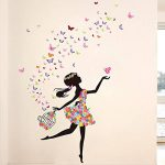 Wallpark Romantique Dansant Fille Fleur Fée Papillon Amovible Stickers Muraux Autocollants, Enfants Bébé Chambre Pépinière DIY Décoratif Adhésif Stickers Mural de la marque Wallpark image 1 produit
