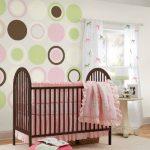 Wallpops Lot de 4 stickers muraux pour chambre de bébé en forme de cercles Marron expresso de la marque Wallpops image 1 produit