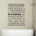 Walplus Adhésif Autocollant Mural Salle à manger pour les garçons et les filles enfants autocollant mural décor à la maison vinyle citation de cuisine Art Mural Salle de bain règles français de la marque WALPLUS image 1 produit
