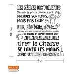 WALPLUS Adhésif Autocollant Mural Salle à Manger pour Les garçons et Les Filles Enfants Autocollant Mural décor à la Maison Vinyle Citation de Cuisine Art Mural Toilette règles français de la marque WALPLUS image 1 produit