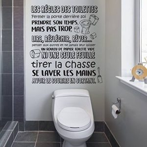 WALPLUS Adhésif Autocollant Mural Salle à Manger pour Les garçons et Les Filles Enfants Autocollant Mural décor à la Maison Vinyle Citation de Cuisine Art Mural Toilette règles français de la marque WALPLUS image 0 produit