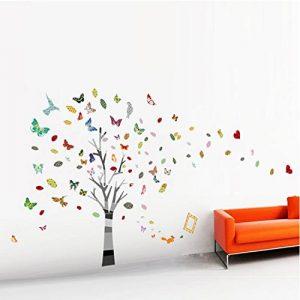 Walplus Autocollant décoratif mural pour crèche et chambre d'enfant Arbre géant avec papillons de la marque WALPLUS image 0 produit