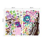 Walplus Autocollant mural joyeux animaux amovible autocollant Art mural Décalques Vinyle Décoration de maison DIY vivant Chambre Bureau Décoration Papier peint chambre d'enfants cadeau, Multicolore de la marque WALPLUS image 2 produit