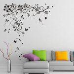 Walplus Sticker mural 150x 130cm mur Stickers New Grand Papillon Vigne amovible en vinyle autocollant murale Art Stickers Décoration DIY Salon Chambre Décor Papier Peint pour chambre de cadeau, Noir de la marque WALPLUS image 1 produit