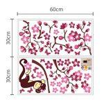 Walplus Stickers muraux 3D pour chambre d'enfant Papillons/fleurs Rose de la marque WALPLUS image 3 produit