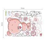 Walplus Stickers muraux pour chambre de bébé Ours en peluche Rose de la marque WALPLUS image 3 produit
