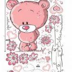 Walplus Stickers muraux pour chambre de bébé Ours en peluche Rose de la marque WALPLUS image 4 produit
