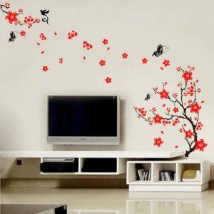 Walplus Stickers muraux style cerisier en fleurs et papillons de la marque WALPLUS image 0 produit